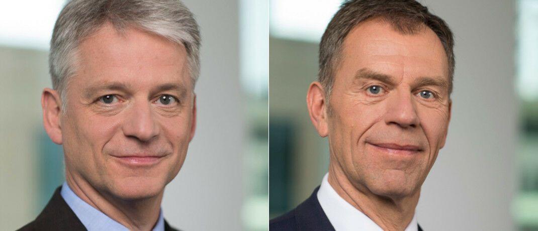 Hans-Ulrich Templin (li.) ersetzt 2020 Uwe Trautmann als Vorsitzender der Geschäftsführung der Helaba Invest. |© Helaba Invest