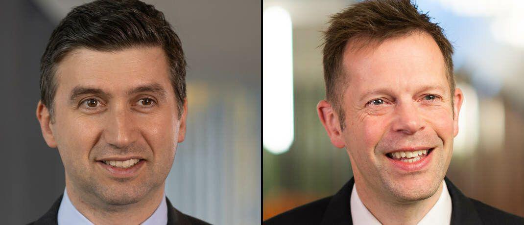 Fondsmanager Mikhail Zverev (links) und Alistair Way, beide Aviva Investors|© Aviva Investors