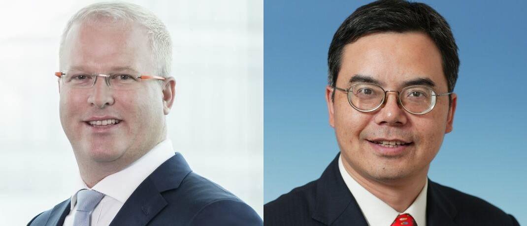 Die China Experten Hayden Briscoe und Bin Shi sehen für chinesische Staatsanleihen sowie Aktien aus dem Gesundheits- und Technologiesektor eine aufkommende Nachfrage. |© UBS Asset Management