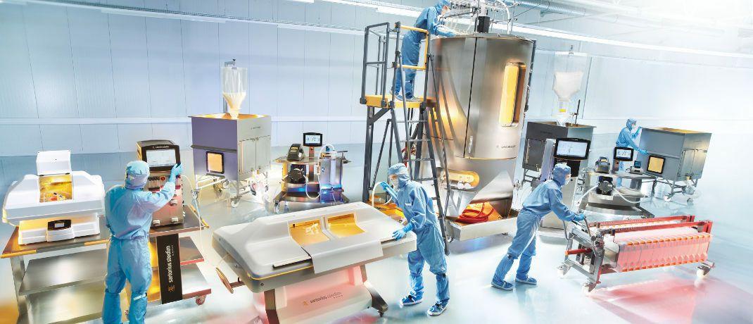 In einem Labor der Firma Sartorius werden Zellen gezüchtet: Die Aktie des Unternehmens gehört zu den erfolgreichsten Positionen im Nebenwertefonds von José Berros.|© Sartorius