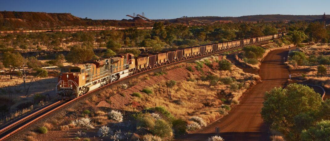 Transport von Erzen in Australien: Weltweit nimmt die Silbernachfrage zu.|© BHP Group