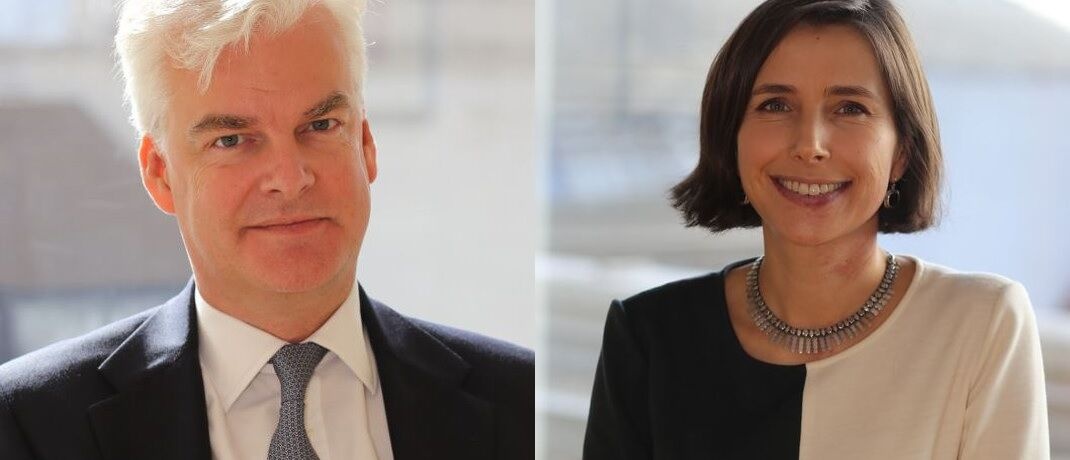 In neuen Positionen bei Schroders: Charles Prideaux und Johanna Kyrklund. © Schroders