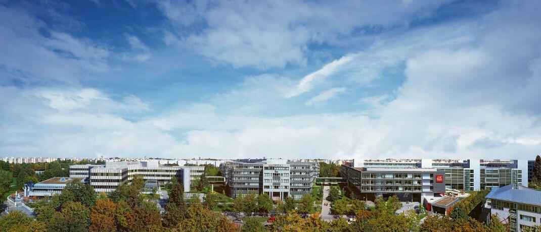Panoramablick auf den Generali-Hauptsitz in München: Die Lebensparte wurde inzwischen komplett vom Abwickler Viridium übernommen und in Proxalto umbenannt. © Generali Deutschland AG