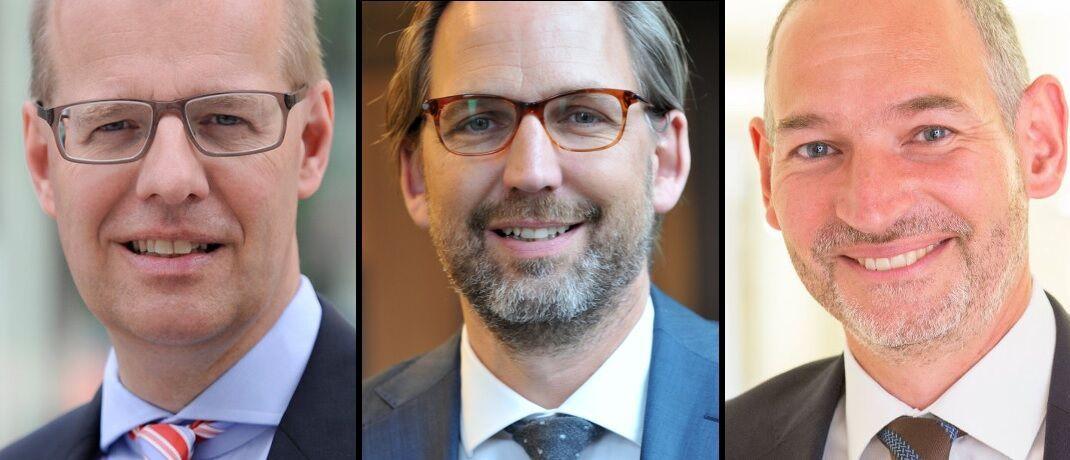 Sehen Veränderungsbedarf an Mifid II : Rechtsanwälte Peter Balzer (Sernetz Schäfer), Martin Klein (Votum) und Christian Hackenberg (Dr. Roller und Partner), v.li.