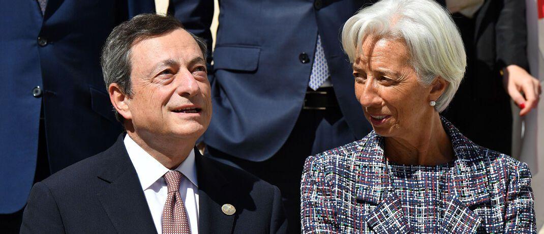 Im November übergibt Mario Draghi den EZB-Vorsitz an Christine Lagarde.