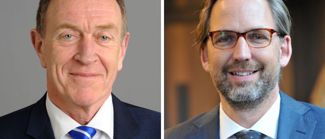 Michael H. Heinz (l.) und Martin Klein: Die Chefs der Vermittlerverbände BVK und Votum wollen den geplanten Provisionsdeckel verhindern.|© BVK, VOTUM