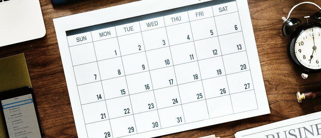 Kalenderblatt: Der Versicherer Uniqa untersuchte, an welchen Daten die meisten Kfz- und Haushaltsunfälle passieren.|© Pexels