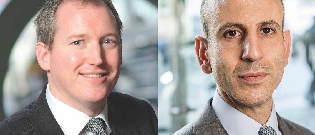 Adam Darling (li.) übernimmt das Management für den Jupiter Global High Yield Short Duration Bond. Er berichtet an den Strategiechef Anleihen bei Jupiter, Ariel Bezalel.