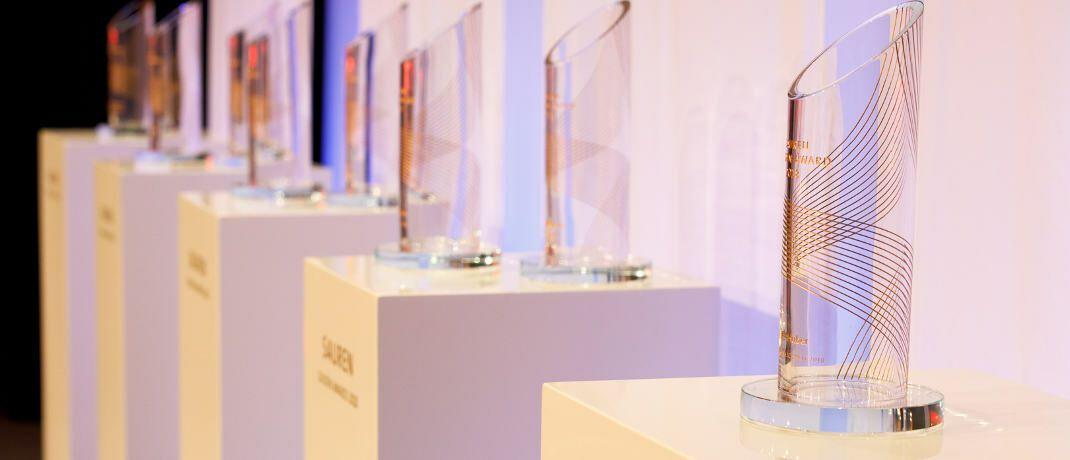 So sehen sie aus, die Sauren Golden Awards (Symbolbild von der Preisverleihung 2018)|© Sauren Fonds-Research