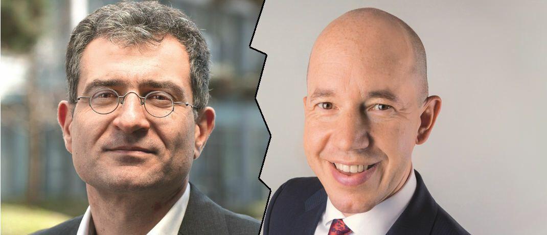 Vertreten unterschiedliche Meinung in Bezug auf Fondskosten: Morningstar-Chefanalyst Ali Masarwah (links) und Greiff-Chef Volker Schilling.