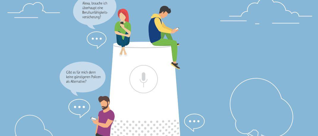 Kollege Computer ist immer im Dienst: Um Service rund um die Uhr an sieben Tagen in der Woche zu bieten, testen Versicherer jetzt Chatbots im Vertrieb. © Lightcome/iStock