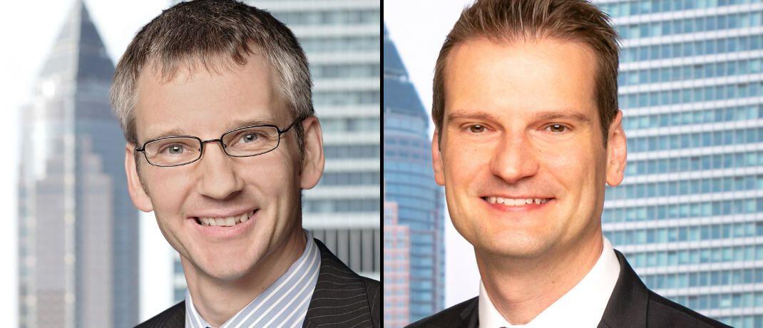 Peter Flöck (links), langjähriger Leiter für Produkte und Mitglied der Geschäftsleitung bei Universal-Investment, und sein Nachfolger Victor Bemmann.|© Universal-Investment