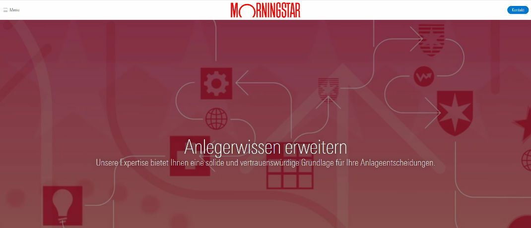 Website von Morningstar in Deutschland | © Screenshot