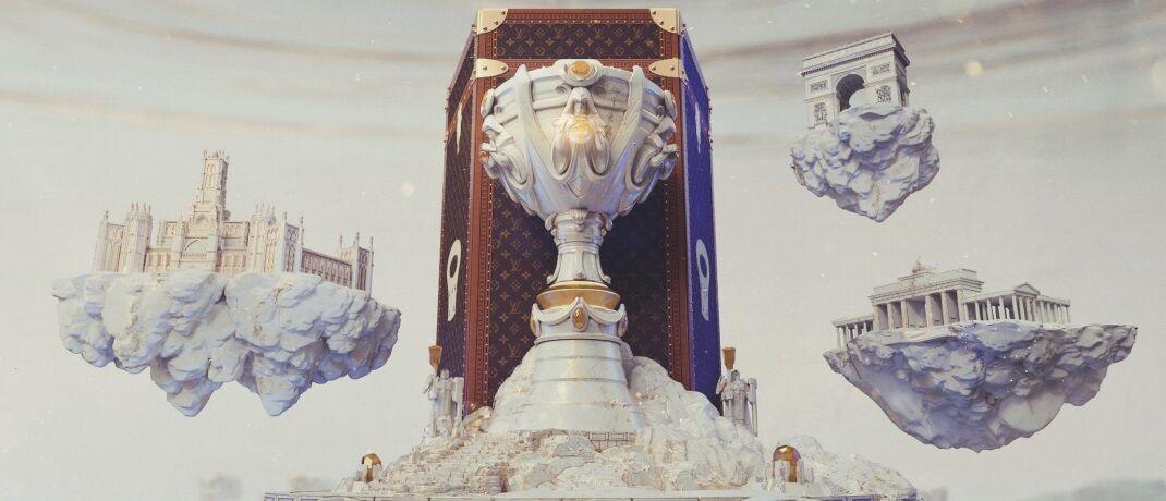 Louis Vuitton trifft auf das Videospiel League of Legends: Die Luxusmarke wird erstmals in der Geschichte des E-Sports einen maßgeschneiderten Trophäenkoffer für die Weltmeisterschaft anfertigen.  © Riot Games