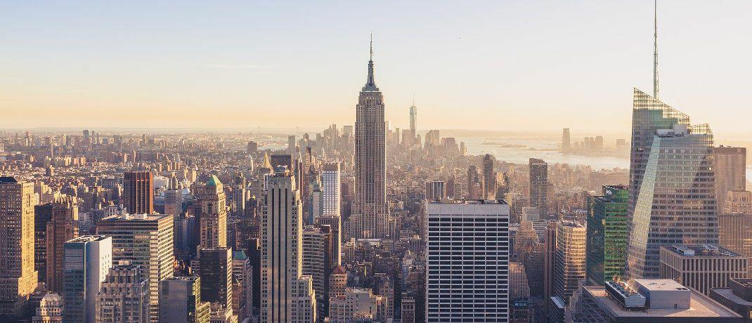 Skyline von New York: JP Morgan Asset Management gehört zum Konzern JP Morgan Chase mit Sitz in der amerikanischen Metropole. |© Pixabay