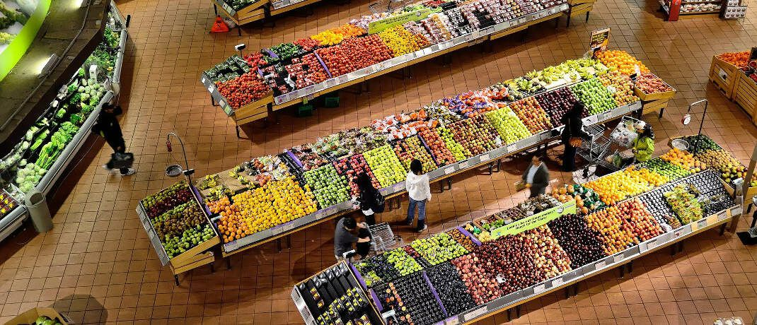 Supermarkt: Im täglichen Leben sehe man keinen Trend zu niedrigeren Preisen, sagt Assenagon-Chefvolkswirt Martin Hüfner. © Pixabay