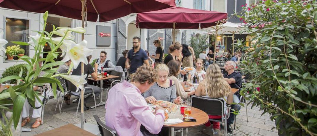 L'Osteria-Restaurant in Graz: Das in der Systemgastronomie tätige Unternehmen sammelt frisches Geld über eine Blockchain-Anleihe ein, mithilfe des Berliner Fintechs Kapilendo.