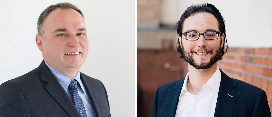 Jürgen Haschka (l.) und Jens Jennissen: Die Chefs der PSD Bank München und Fairr haben eine Vertriebskooperation vereinbart.|© PSD Bank München, Raisin