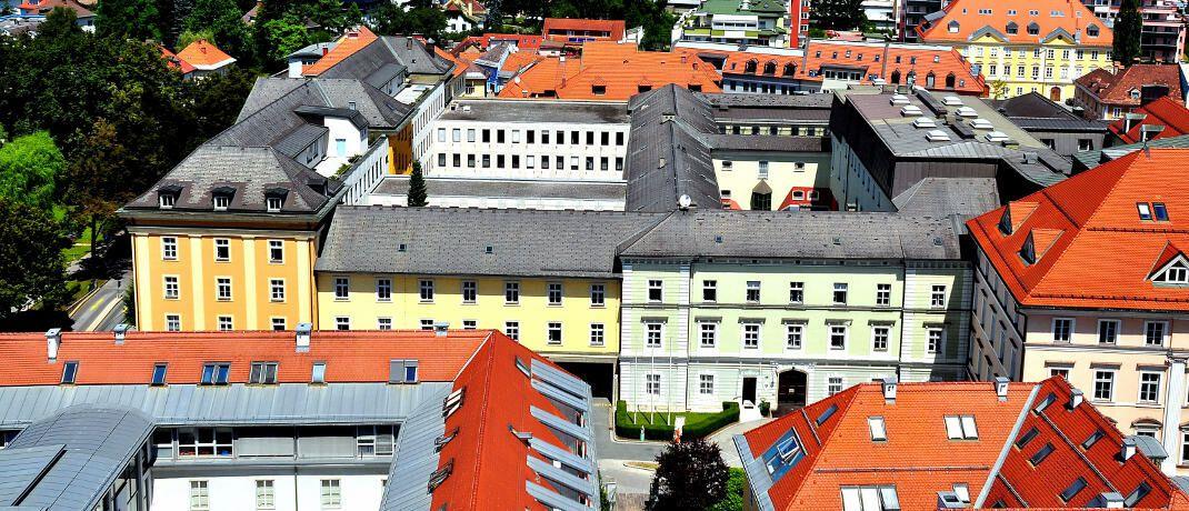 Landesgericht Klagenfurt, das sich mit dem Fall der Bombendrohung in einer Versicherungsfiliale befasst.|© CC BY-SA 3.0 Johann Jaritz/Wikipedia