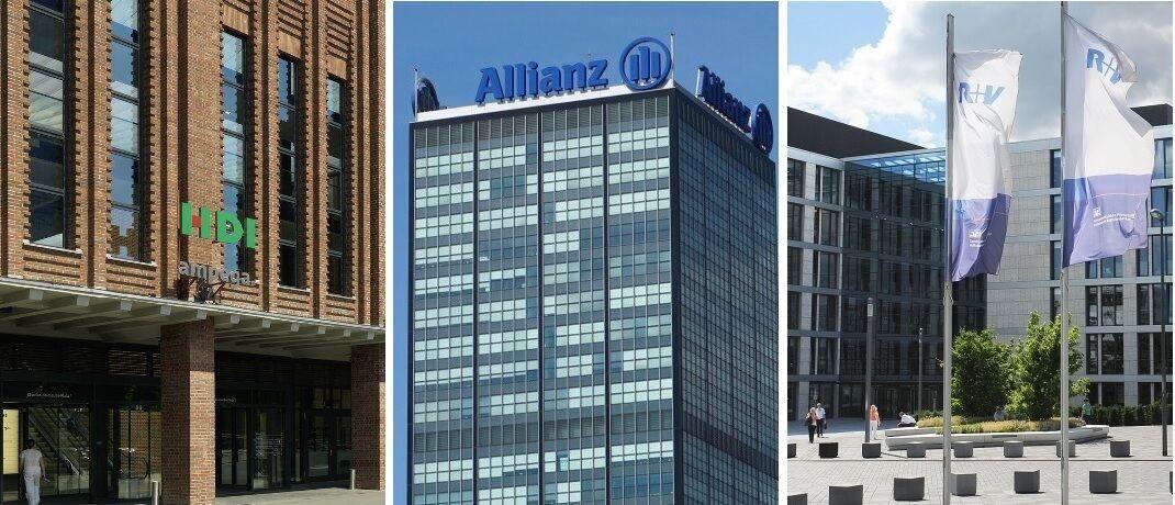 HDI, Allianz und R+V, drei der elf fairsten BU-Versicherer 2020.|© HDI, Allianz, R+V