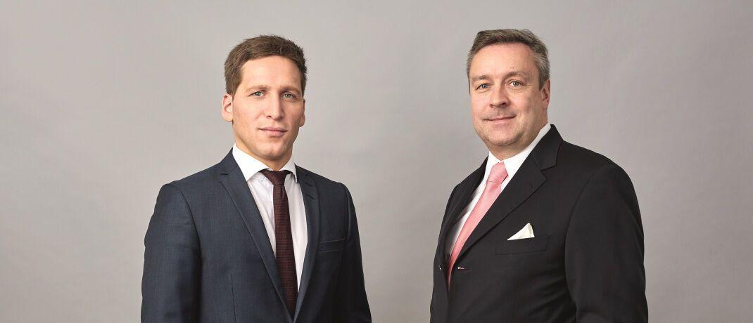 Loys-Vorstände Ufuk Boydak (li.) und Christoph Bruns: Die Oldenburger haben einen Dividendenfonds frisch ins Programm genommen.|© Loys AG