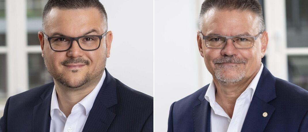Sind zu Jahresbeginn am deutschen Standort von Dela Lebensversicherungen angetreten: Peter Rauch (re.) und Bastian Marko Boehner.