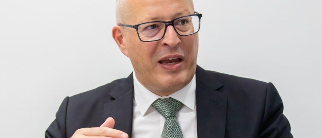 Christian Nuschele: Als Head of Sales & Marketing bei Standard Life Deutschland leitet er den Vertrieb der britischen Versicherungsgruppe mit Niederlassung in Frankfurt.|© Rüdiger Glahs