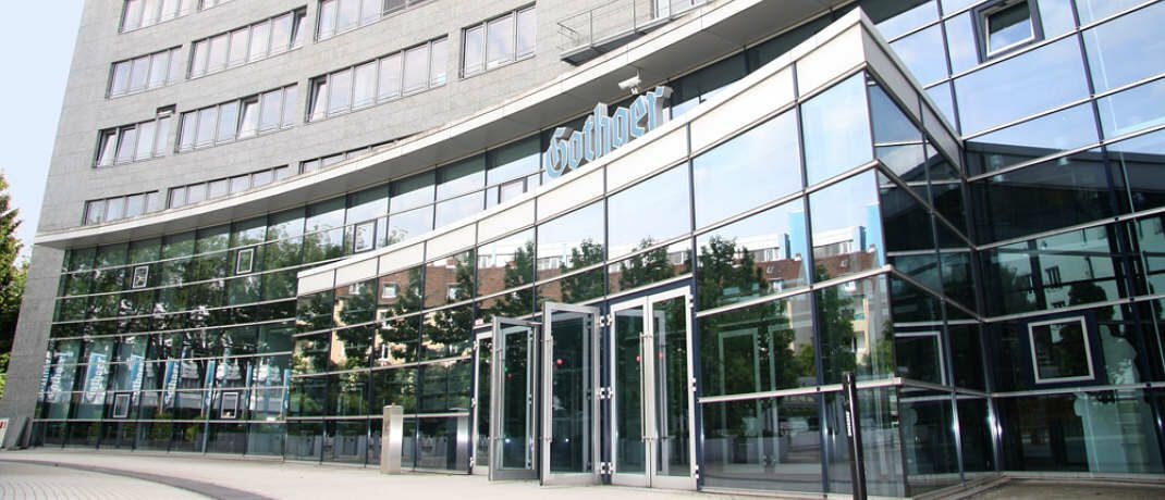 Gothaer-Gebäude: Der Versicherer will in seiner Kölner Zentrale künftig nachhaltiger wirtschaften.