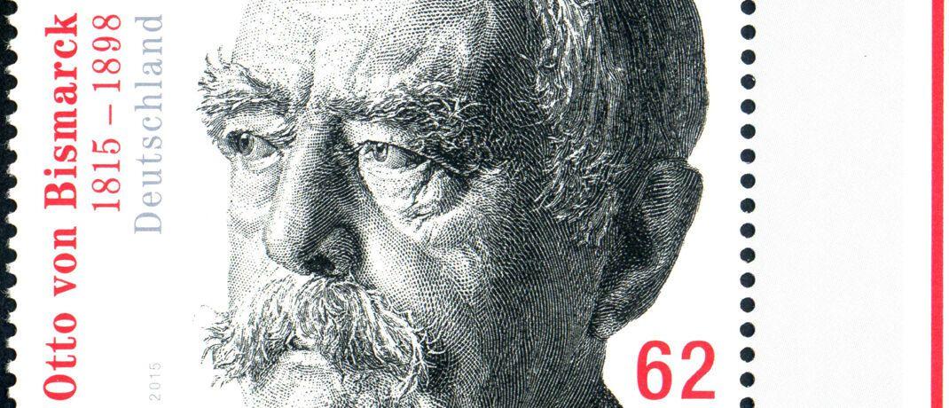 Briefmarke mit Reichskanzler Otto von Bismarck: Am 4. Dezember 1871 wurde die Mark offizielle Währung des Deutschen Kaiserreichs.|© imago images / Schöning