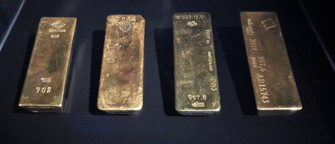 Goldbarren aus dem Bestand der Deutschen Bundesbank: Vermögensverwalter Stephan Albrech sieht gute Aussichten für Goldanleger.|© imago images/Hartenfelser