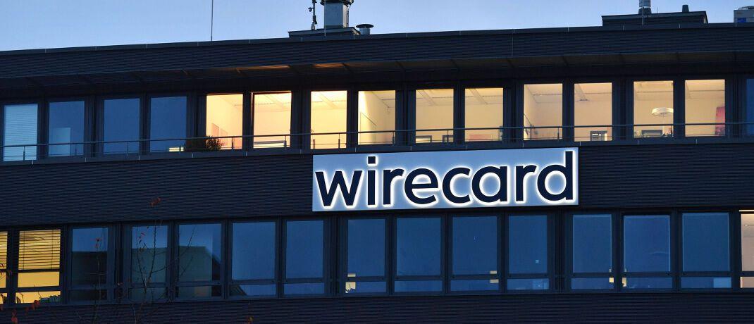 Wirecard-Logo am Firmensitz in Aschheim: Der Zahlungsdienstleister ist erneut in die Schlagzeilen geraten.|© imago images / Sven Simon
