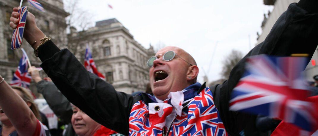 Brexit-Befürworter: Großbritannien will nach dem EU-Abschied an wirtschaftlicher Bedeutung gewinnen. |© Imago Images