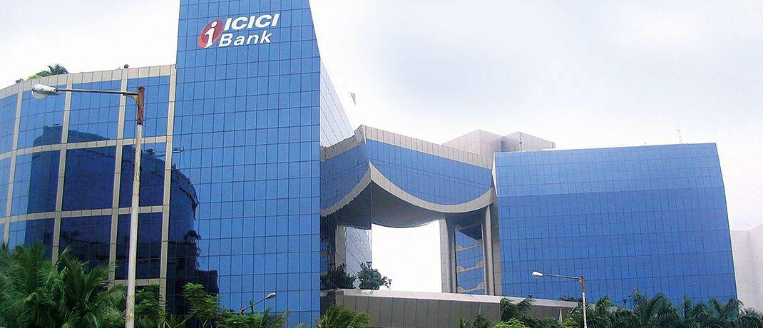 Blick auf die Zentrale der ICICI Bank in Mumbai, Indien. Finanzunternehmen wie dieses – mit großen Wachstumspotenzialen – gehören auch zum Anlage universum des Prisma Aktiv UI|© Sumedh~commonswiki/CC-BY-3.0/Wikimedia Commons