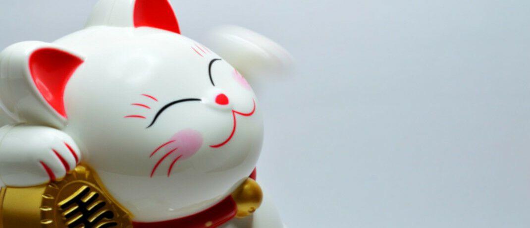 Japanischer Glücksbringer Winkekatze: Wer zu Japans Glanzzeiten einen Nikkei-ETF gekauft hat, liegt noch heute mit 40 Prozent im Minus, warnt Finanzberaterin Constanze Hintze.|© Pexels
