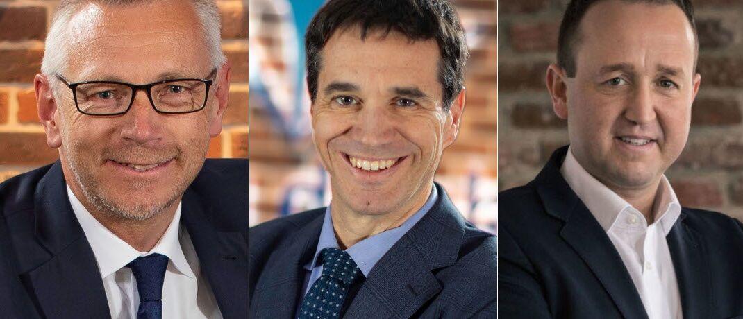 Wollen zukünftig eng zusammenarbeiten: Lars Drückhammer, Oliver Pradetto (beide Blau Direkt) und Sven Burkart (Wifo), von links.
