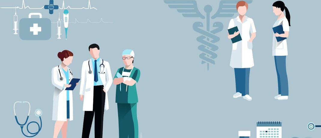 Ärzte, Zahnärzte, Apotheker: Bei Kunden aus medizinischen Berufen untersuchen Versicherungsmakler oftmals auch die betriebliche Absicherung.|© macrovector official/Freepik
