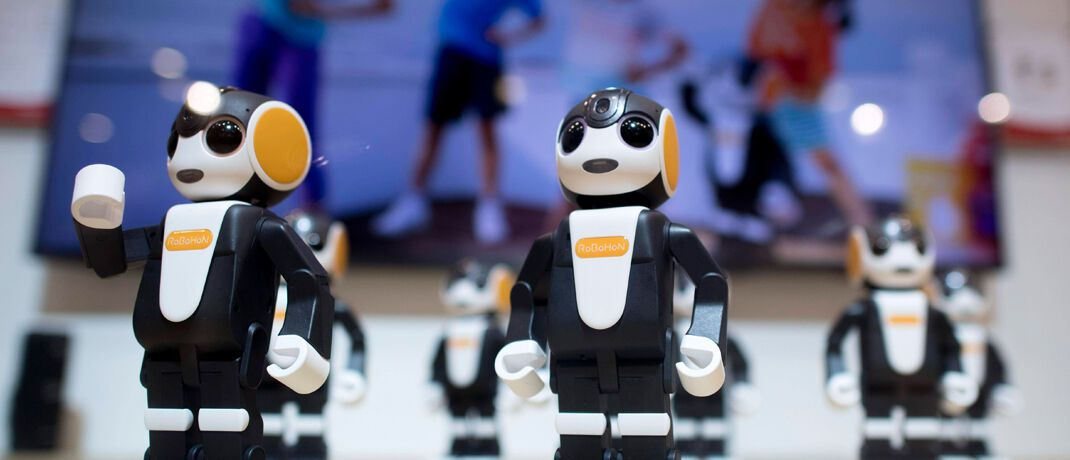 Roboter auf einer Messe in Berlin: Deutschland spielt in der Digitalisierungsbranche nur eine untergeordnete Rolle. © imago images / IPON