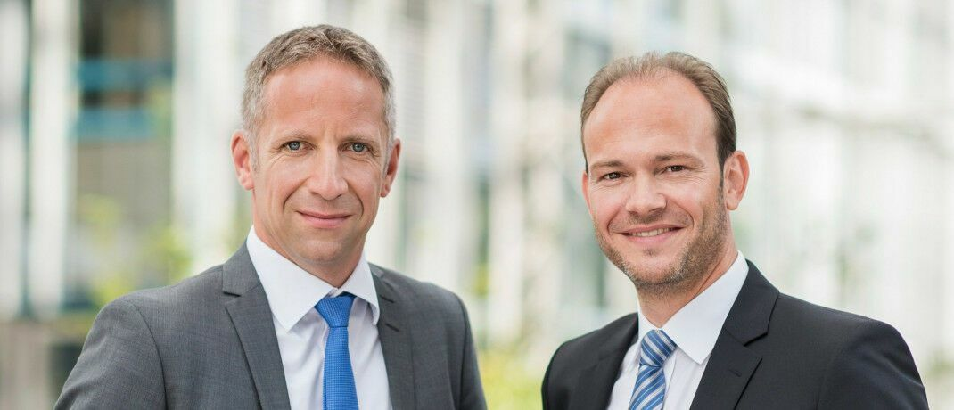 Norbert Porazik (links) und Markus Kiener, Geschäftsführende Gesellschafter des Maklerpools Fondsfinanz.|© Fondsfinanz Maklerservice