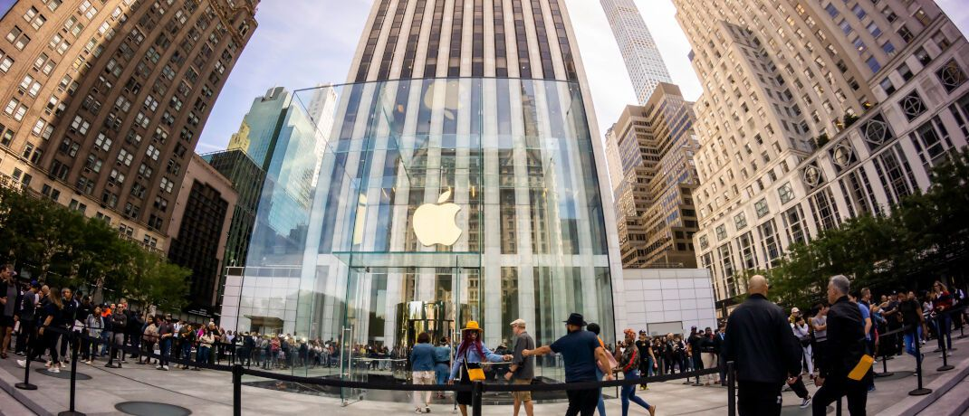 Apple-Store in New York: US-Tech-Konzerne gehören zu den Anleger-Lieblingen. | © Imago Images