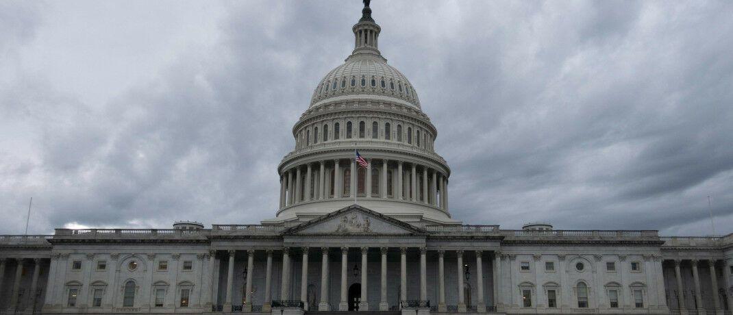 Tristes Wetter am Capitol Hill in Washington, D.C.: Die USA sind besonders hoch verschuldet. |© imago images / Xinhua