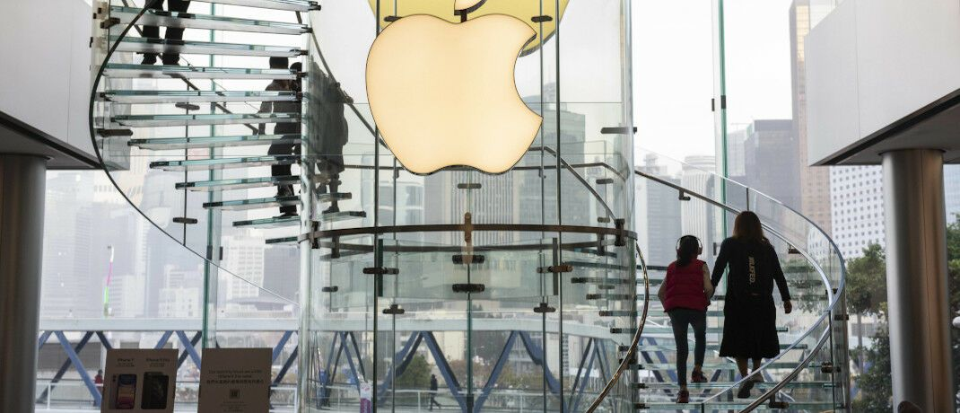 Apple-Store in Hongkong: Tech-Titel wie Apple haben maßgeblich zur US-Börsenrally der vergangenen Dekade beigetragen.|© imago / ZUMA Press