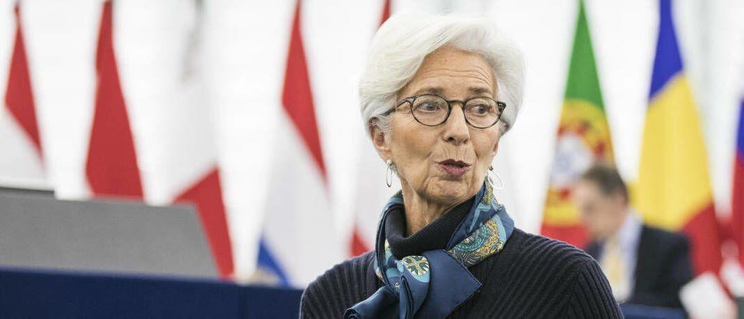 EZB-Chefin Christine Lagarde in der Bredouille: Der US-Markt wird von Disruption befeuert, in der Eurozone ist es andersherum. |© imago images / PanoramiC