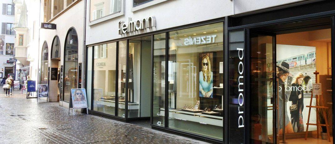 Fußgängerzone in Luzern mit Fielmann-Filiale: Der neue Fonds investiert in Nebenwerte, wie sie etwa im deutschen S-Dax vertreten sind.
