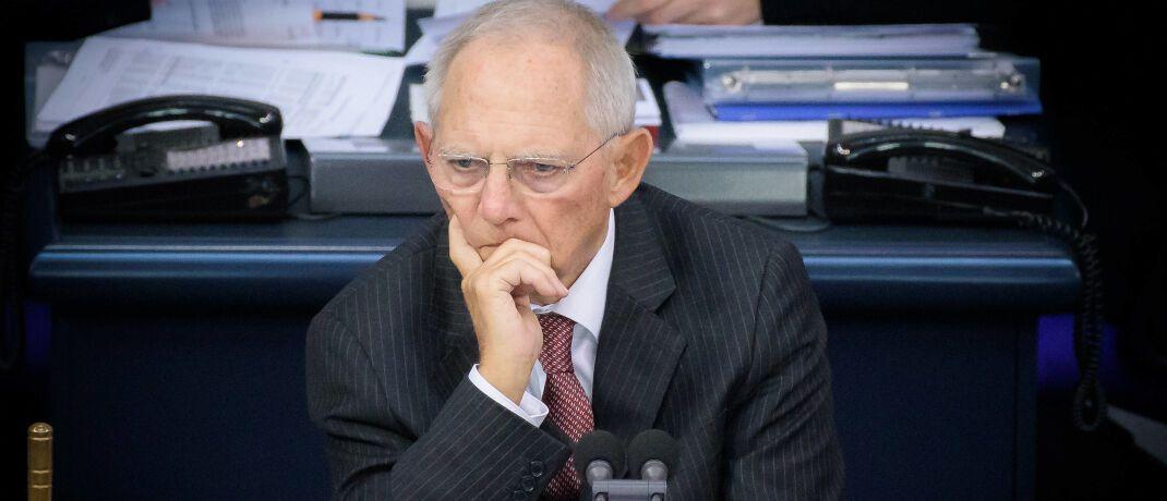 Brachte 2018 die Investmentsteuerreform auf die Bahn: der frühere Finanzminister Wolfgang Schäuble|© imago images / Christian Spicker