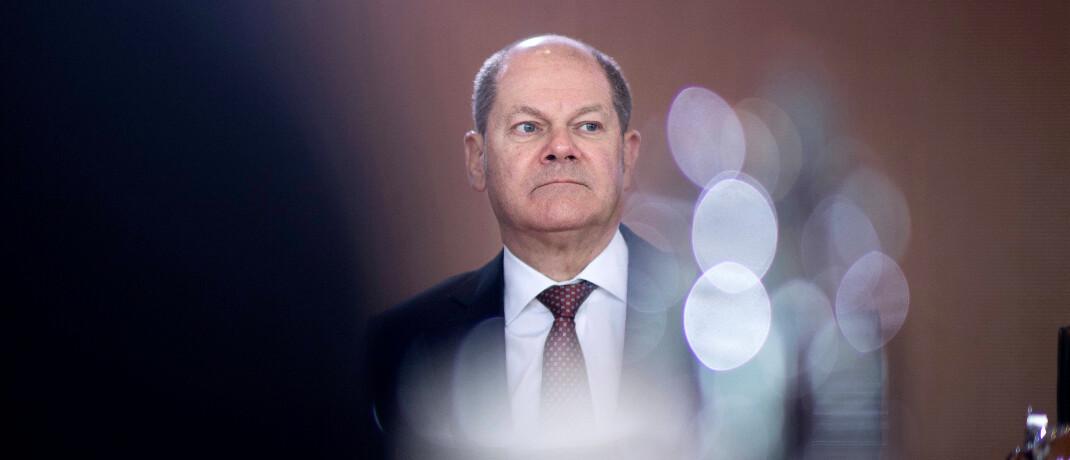 Bundesfinanzminister Olaf Scholz (SPD) im Berliner Kanzleramt in Berlin: An dem deutsch-französischen Vorschlag für eine EU-Finanztransaktionsteuer gibt es Kritik.|© imago images / IPON