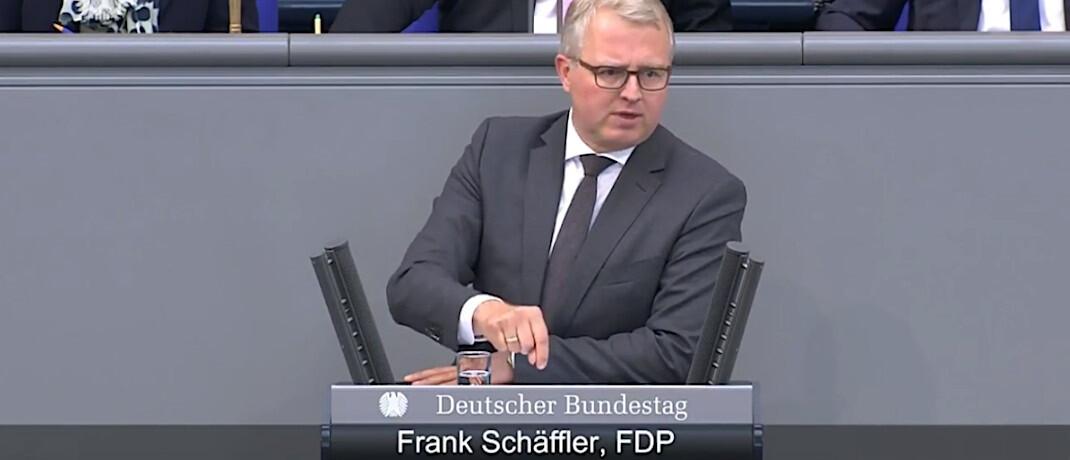 FDP-Bundestagsabgeordneter Frank Schäffler: Eine Kleine Anfrage soll Details zur geplanten Bafin-Aufsicht für Finanzanlagenvermittler ans Licht bringen. © Frank Schäffler / Deutscher Bundestag