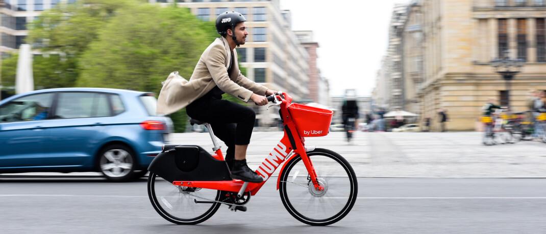 Jump Bike von Uber: Die Allianz wird Versicherungspartner für das Leihangebot an Elektrofahrrädern und -rollern (E-Bikes und E-Scooter) in Europa.|© Uber