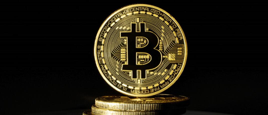 Physisch geprägter Bitcoin: Die Anzahl der Transaktionen mit der Kryptowährung sind 2019 um ein Viertel gesunken.|© imago images / photothek