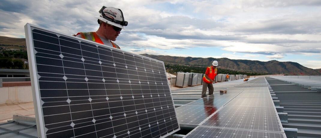 Photovoltaik-Anlage: Der neue Fonds soll in Unternehmen aus dem Segment erneuerbare Energien investieren.|© Pixabay