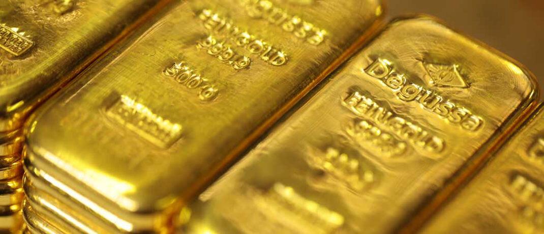 Goldbarren: Edelmetall-Experte Martin Siegel sieht eine Erholung beim Goldpreis voraus.|© Degussa Goldhandel